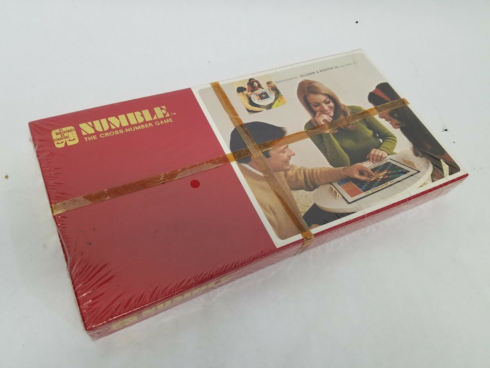 Vintage Numble The Cross-Number Game 1968 New SEALED Box w  Outside Graphic