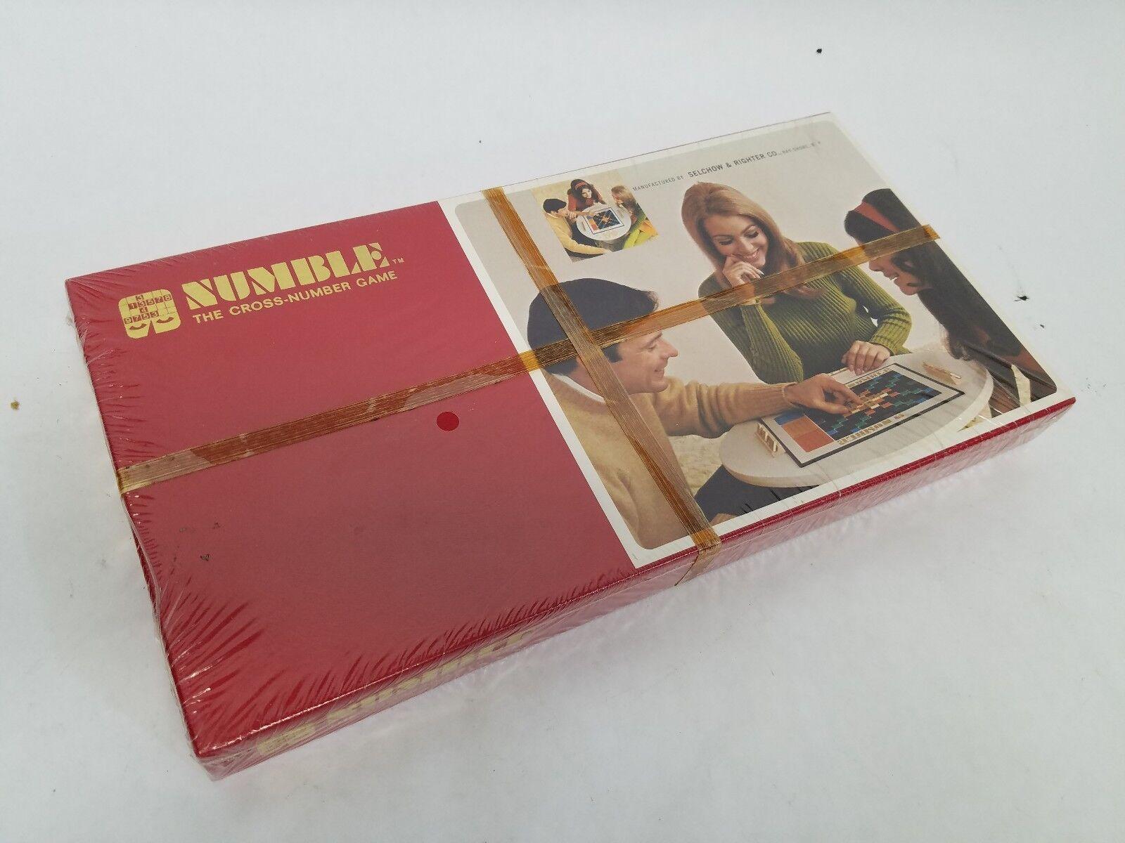 Vintage numble la Croix-Nombre Jeu 1968 NEUF boîte scellée avec l'extérieur graphique