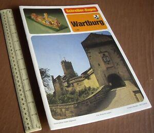 1980s-Wartburg-Castle-Germany-J-F-Schreiber-Verlag-Esslingen-Cut-Out-Card-Kit