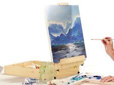 Artists Art Easels -Tabletop Box Easel -51 Piece Canvass Paint Brush Artist Set