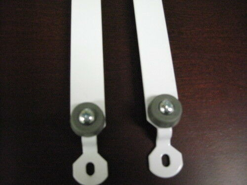 with Rubbers-Brown Color Only Pair Baby Crib Hardware-Lower Metal Track