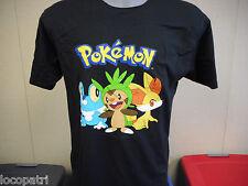 Mens Licensed Pokemon Fennekin Chespin Froakie Shirt New L