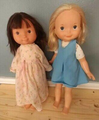 "MANDY JENNY /& MIKEY Lot of Three 1978 Fisher Price MY FRIEND 15"" Dolls"