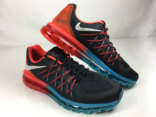 Nike Air Max 2015 Running Shoes Men's Size 11.5 Black SNEAKERS 698902 006