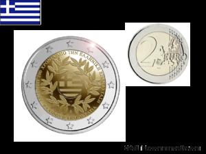 Prévente 2 Euros Commémorative Grèce 2021 Bicentenaire Révolution UNC