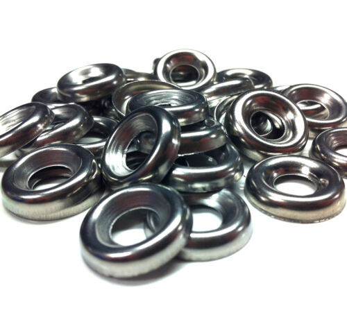 250 10g STAINLESS STEEL A2 SCREW CUP FINISHING WASHERS FOR COUNTERSUNK SCREWS *