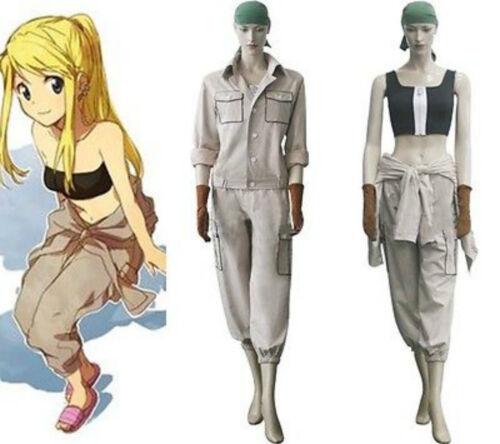 Fullmetal Alchemist Brotherhood Winry Rockbell Cosplay Costume Custom Set