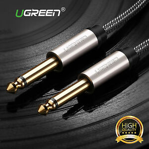 Ugreen-GOLD-Mono-6-35mm-1-4-034-Jack-Plugs-Guitar-Amp-Instrument-Audio-Cable-Lead