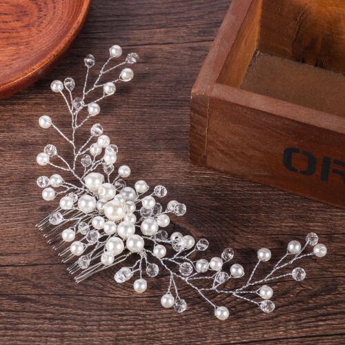 Bride Hair Comb Headwear Faux Pearl Headdress Wedding Women Jewelry Elegant Gift