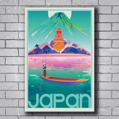 N-255 Japan Tokyo Land of the Rising Sun Vintage Travel Wall Poster Art 24x36IN
