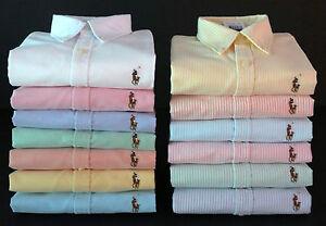 New Ralph Lauren Women's Long Sleeve Oxford Button Down Classic Fit Shirt