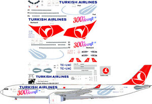 Turkish-Airlines-Airbus-A-330-300-300th-Aircraft-decals-for-Revell-1-144-kit