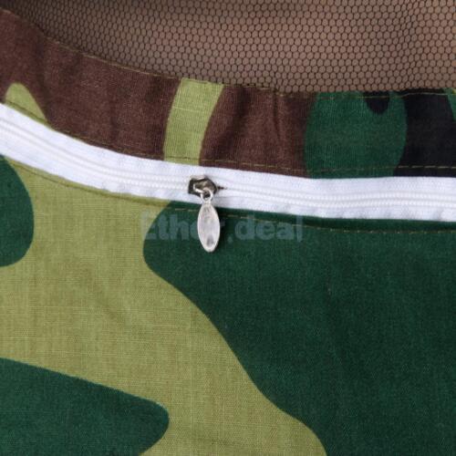 Professionell Protective Imkerbekleidung Imkeranzug Bienenschutz Jacke Grün Camo