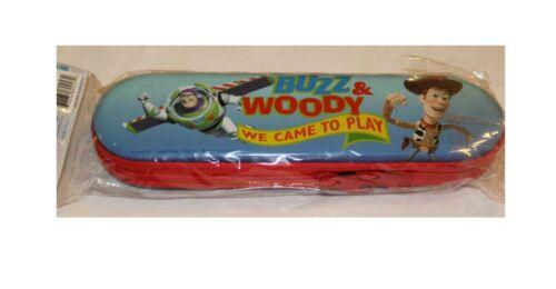 Disney Vintage Toy Story Buzz Woody Jessie Zippered Tin Pencil Box Case NEW