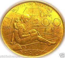 Italy - Italian 1980R 200 Lire Coin - International Women's Year - FAO