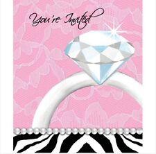 Bachelorette Party Invitations Set Of 8   Includes Envelopes