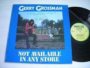 SIGNED-Gerry-Grossman-Not-Available-in-any-Store-1981-Stereo-LP-VG
