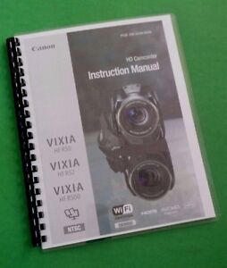 Canon Vixia HFR50 HFR52 HFR500 Camera 200 Page LASER PRINTED Owners Manual Guide