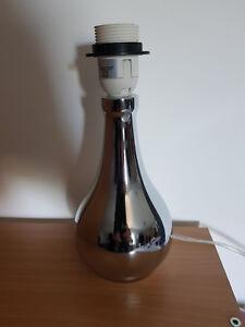 DéVoué Pied De Lampe Tactile à Poser Forme Goutte - Couleur Chrome/ Argent - Fly