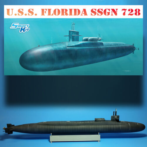 DRAGON 1/350 USS FLORIDA SSGN 728 OHIO CLASS BALLISTIC MISSLE SUB MODEL KIT