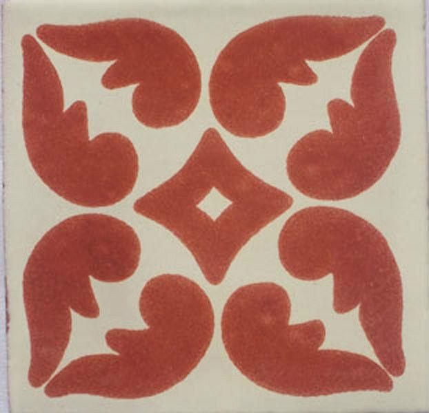 C028- Mexican Handmade Talavera Clay Tile Folk Art 4x4