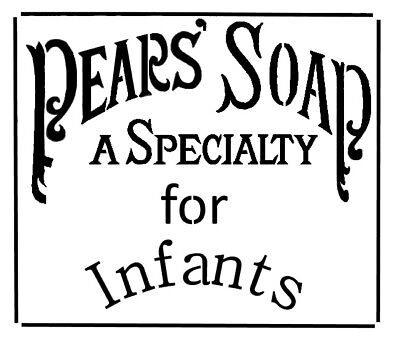 high detail airbrush stencil pears soap advertising 1886 FREE UK POSTAGE