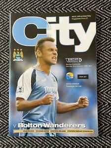 Manchester-City-v-Bolton-2006-Programme-23-12-06-FREE-UK-POSTAGE-LAST-TWO