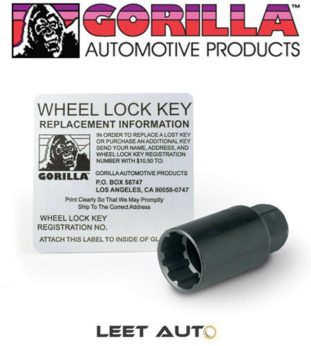 73631TBC Gorilla Wheel Locks 12mm x 1.50 Black Toyota//Lexus Factory Style
