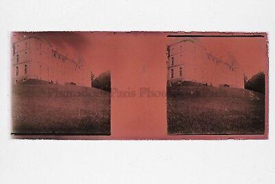 Das Schloss Rot Foto Amateur Platte Gläser Stereo Ca 1920 Reich An Poetischer Und Bildlicher Pracht