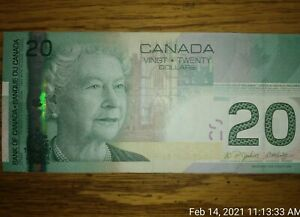 2004 Canada 20 Dollars $20 Bill serial # AZK3428158 legal tender Note Circulated