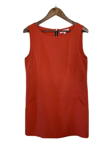 LOFT Women's Sleeveless Rayon Dress Size 10 Coral