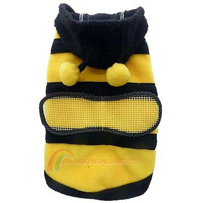 Dog Cat Pet Supplies CuteBumble Bee Dress Up Costume Apparel Coat Clothes R1BO