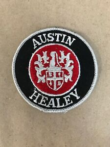 Vtg-Austin-Healey-Embroidered-Sew-On-Patch-3-British-Auto-Racing-Badge-BMC-MG
