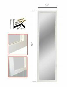 Details About Full Length Wall Mirror Over The Door Wood Frame 14 X 48 White