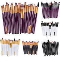 Soft 20pcs Amazing Eye Makeup Brushes Professional Cosmetic Make Up Brush Set