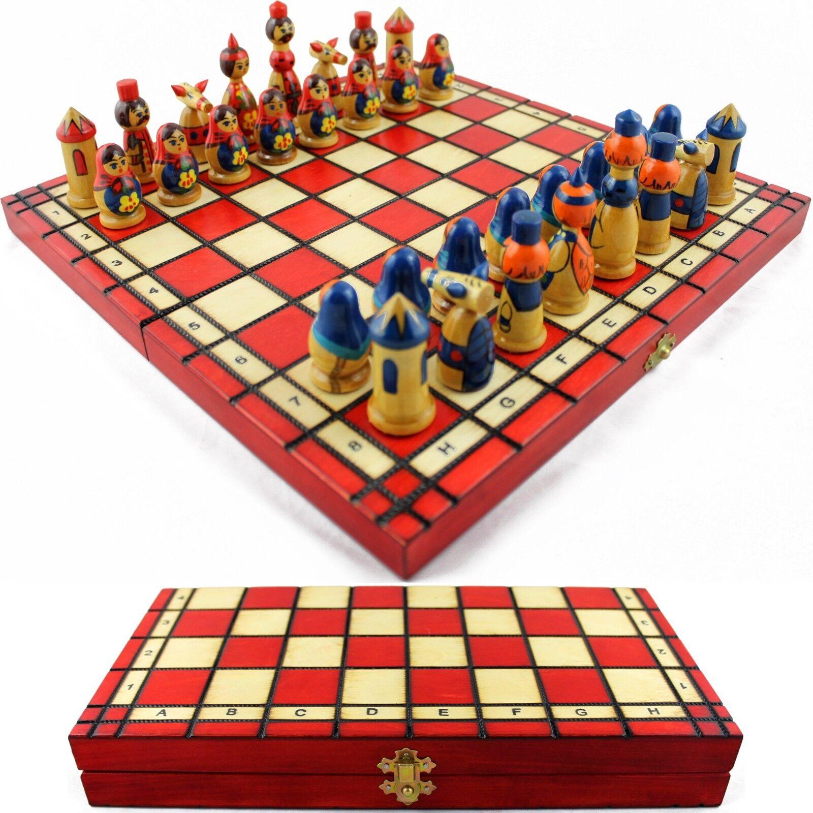 Chess Board Game - Matryoshkas Russian Chess Pieces