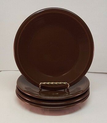 Fiestaware Chocolate Salad Plate Lot of 4 Fiesta Brown 7.25 inch small plates : chocolate fiesta dinnerware - pezcame.com