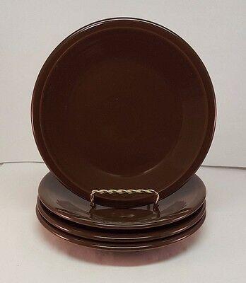 Fiestaware Chocolate Salad Plate Lot of 4 Fiesta Brown 7.25 inch small plates & Fiestaware Chocolate Salad Plate Lot of 4 Fiesta Brown 7.25 inch ...