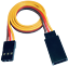10-servos-Graupner-JR-robbe-Futaba-extension-cable-30-cm-22AWG-cable-RC miniatura 2