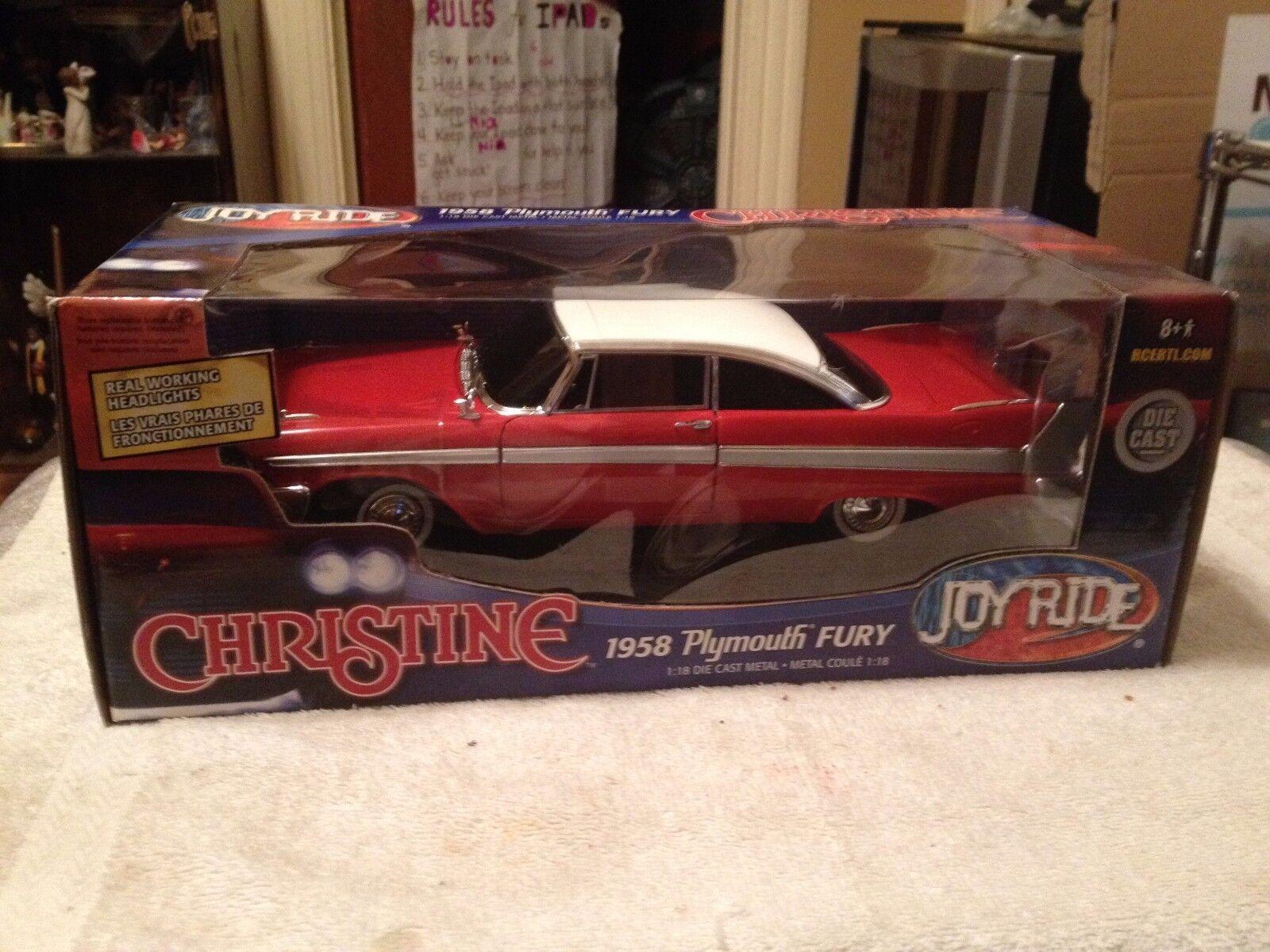directo de fábrica 1958 Plymouth Fury  Christine  Rojo Rojo Rojo blancoo 1 9996. Ertl authentics  súper Raro   precios al por mayor
