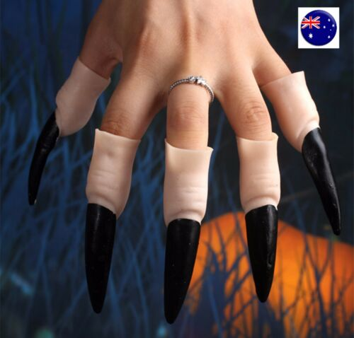 HALO Halloween Costume Party Skull Ghost Vampire Witch Long fake Nail Claw Cover