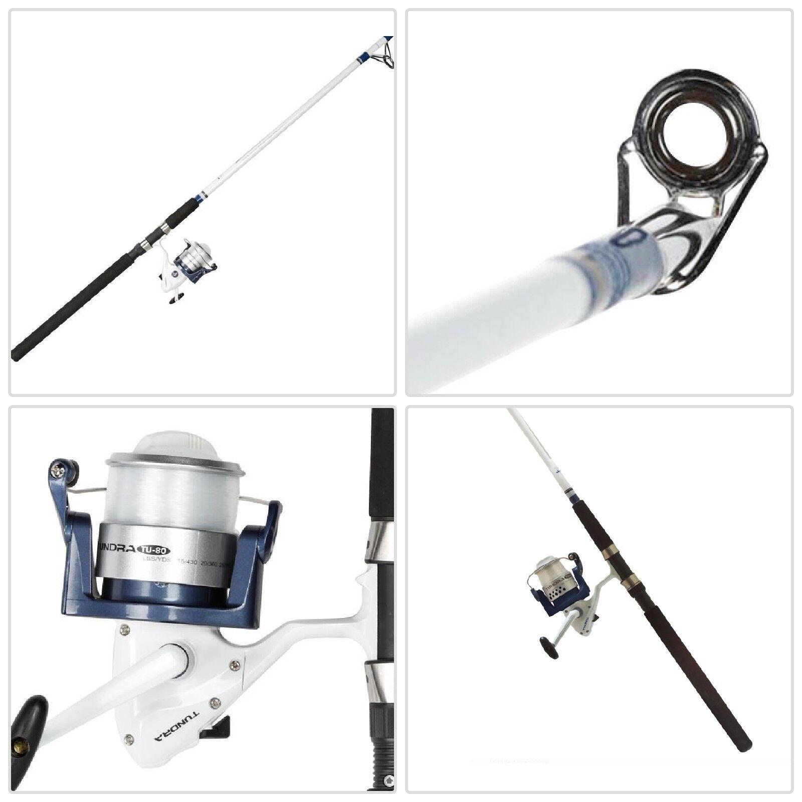 Okuma Tundra Surf Fishing Rod Combo Saltwater Spinning Reel Durable Fiber 10FT