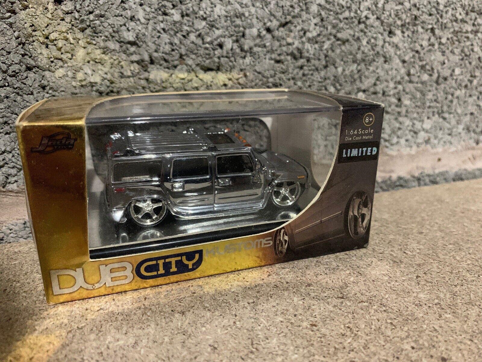 Jada Dub City Chrome Hummer H2 1 64 Rare New