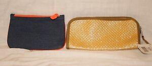 NWT-Cosmetic-Organizer-Bag-2-Pc-IPSY-WalMart-Blue-Denim-amp-Shimmering