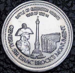 1986 NIAGARA FALLS - General Sir Isaac Brock's Monument Trade Dollar