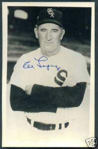 AL LOPEZ Signed Autographed Baseball Postcard HOF Chicago White Sox