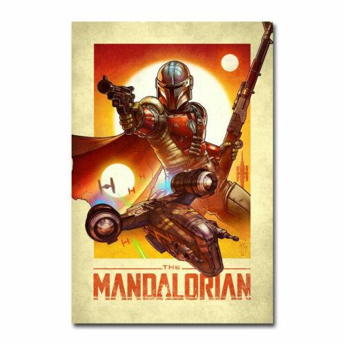 The Mandalorian STAR WARS Movie Poster Art Canvas Silk Poster Print