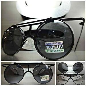 506011bf01ed Men s Women VINTAGE RETRO 60 s LENNON Round Flip Up Lens SUN GLASSES ...