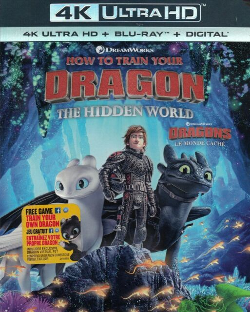 HOW TO TRAIN YOUR DRAGON THE HIDDEN WORLD (4K ULTRA HD/BLURAY)(2 DISC SET)(USED)