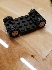 Lego x487 x487c01 270c02 black train base 6 x 12 with wheels